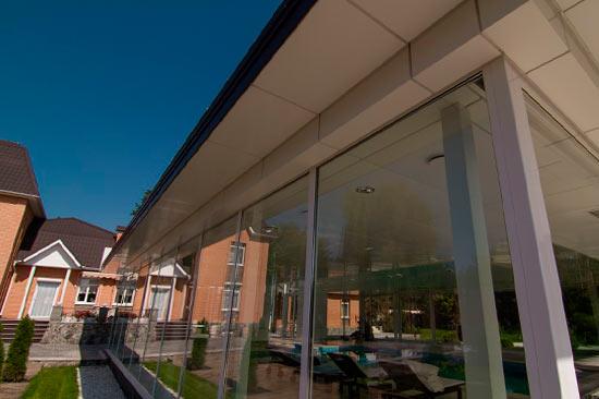 Цена Остекление коттеджа, загородного частного дома окнами из алюминия в Днепре и Украине  компания Эклипс