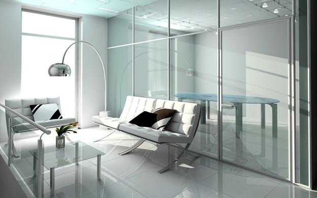 Купить стеклянные перегородки в Днепре, Украине в коттедж, офис, квартиру недорого,  компания Эклипс