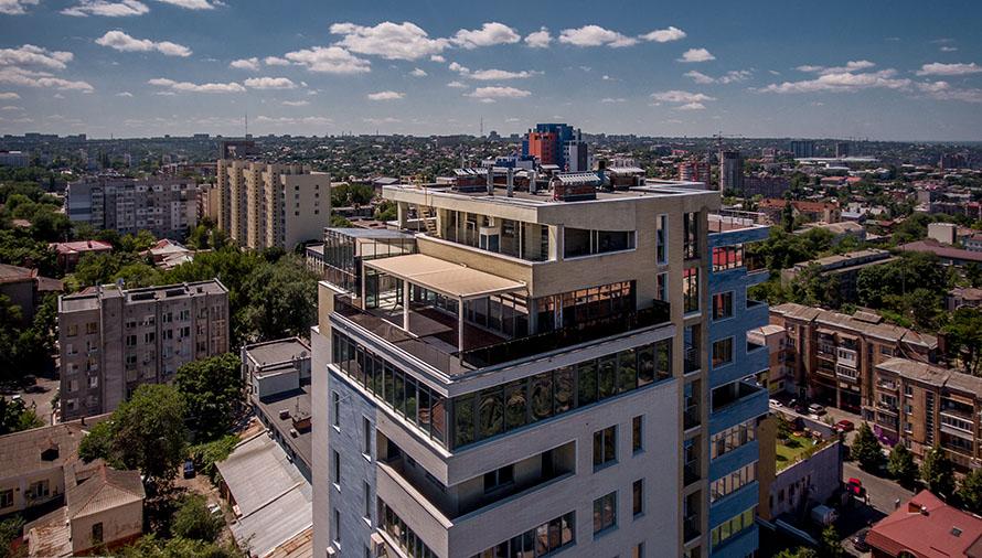 Жукоffский 13 этаж, фасадное остекление